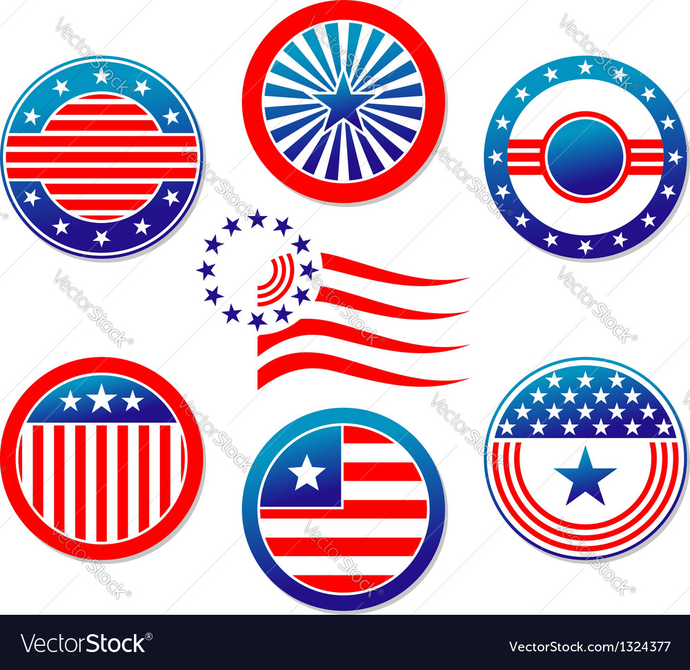 American national banners and symbols vector | Price: 1 Credit (USD $1)