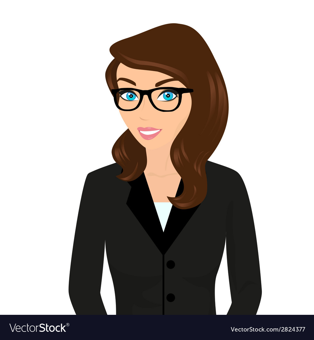Businesswoman close-up vector | Price: 1 Credit (USD $1)