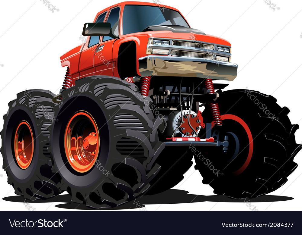 Cartoon monster truck vector   Price: 3 Credit (USD $3)