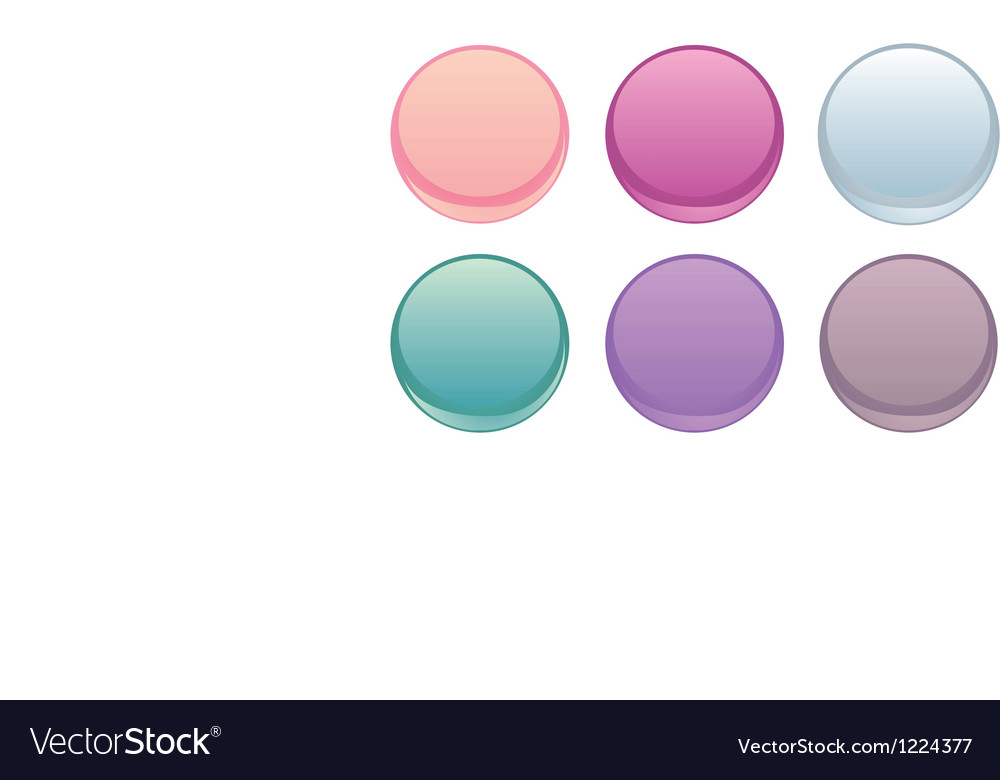 Colorful web buttons isolated on white set vector | Price: 1 Credit (USD $1)