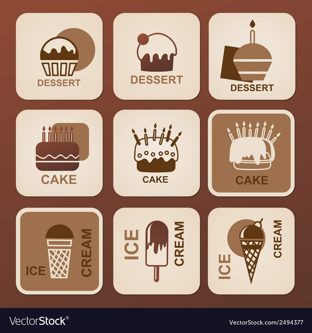 Food icons set symbols vector | Price: 1 Credit (USD $1)