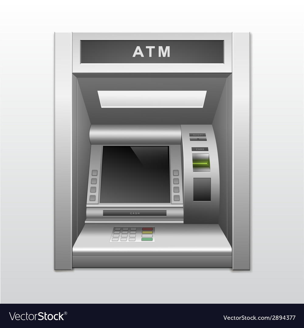 Isolated atm bank cash machine vector | Price: 1 Credit (USD $1)