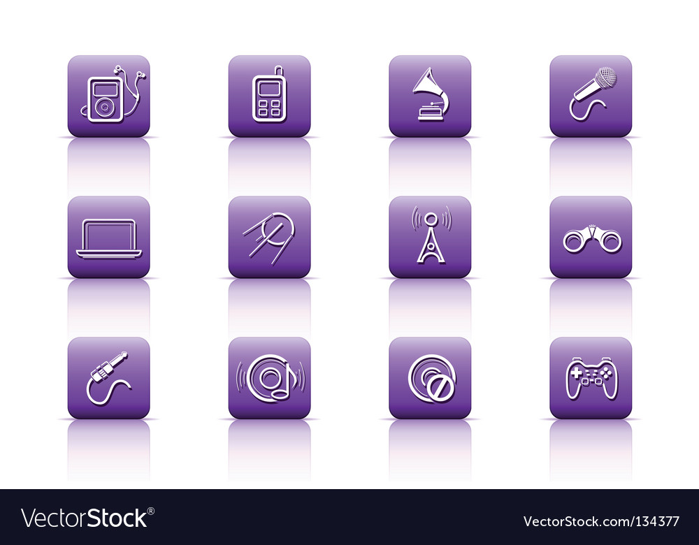 Media buttons vector | Price: 1 Credit (USD $1)