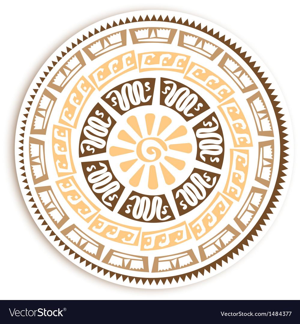 Petroglyph round emblem vector | Price: 1 Credit (USD $1)