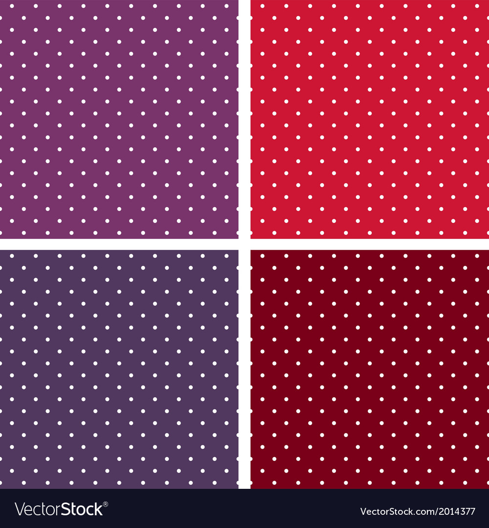 Seamless white polka dots background set vector | Price: 1 Credit (USD $1)