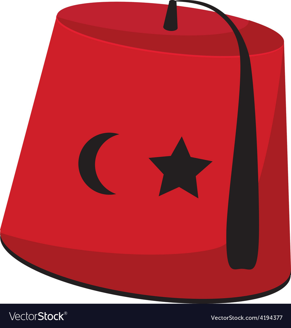 Turkish hat with star and crescent vector | Price: 1 Credit (USD $1)