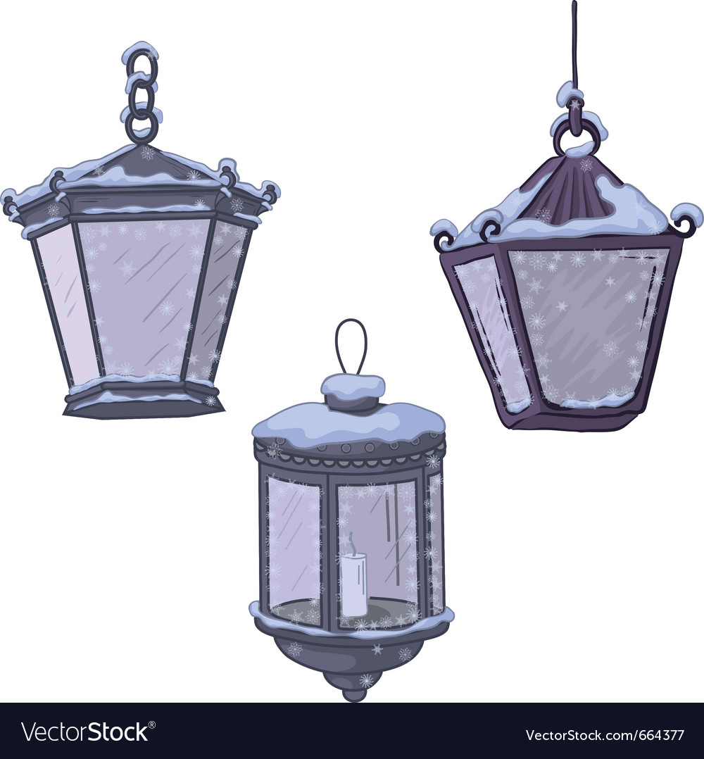 Vintage street lanterns vector | Price: 1 Credit (USD $1)