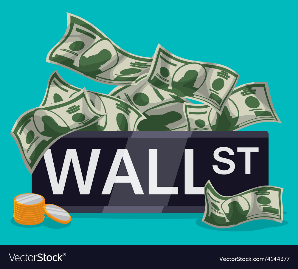 Wall street design vector | Price: 1 Credit (USD $1)