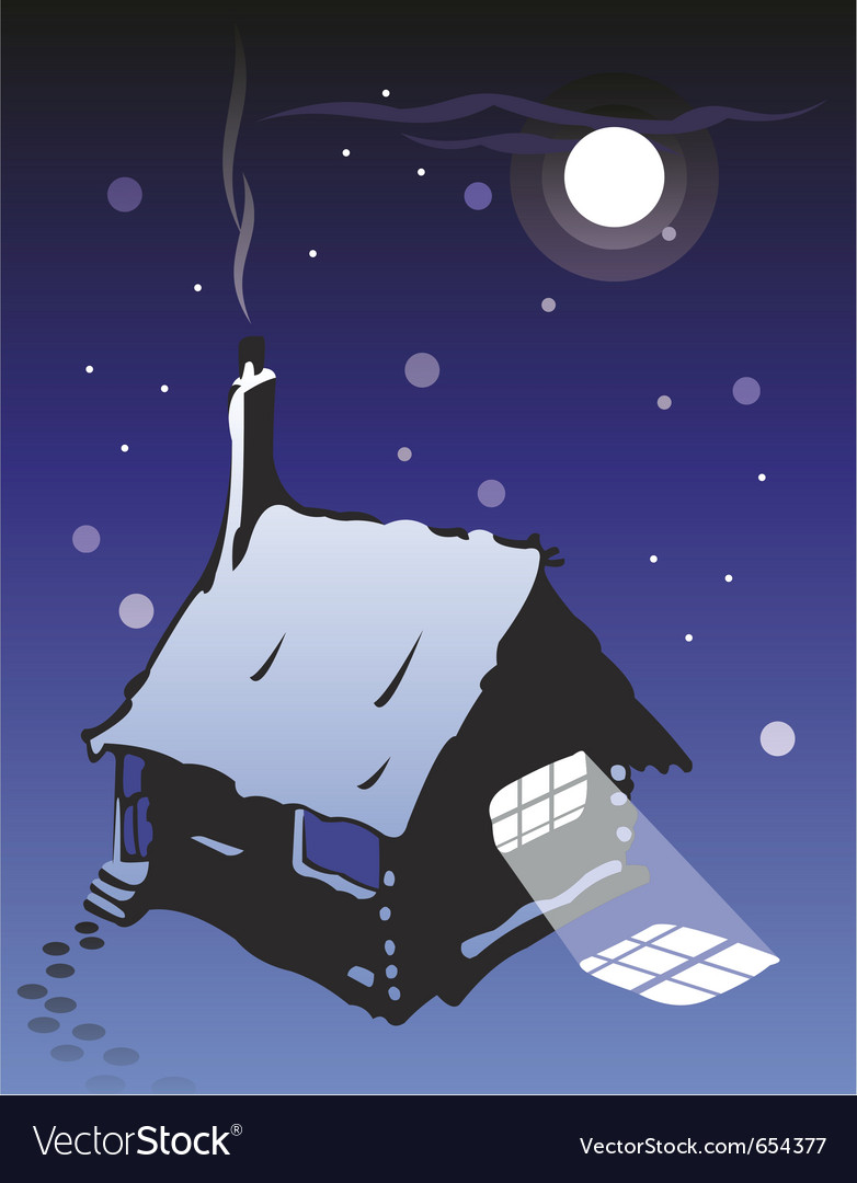 Wooden cottage vector | Price: 1 Credit (USD $1)