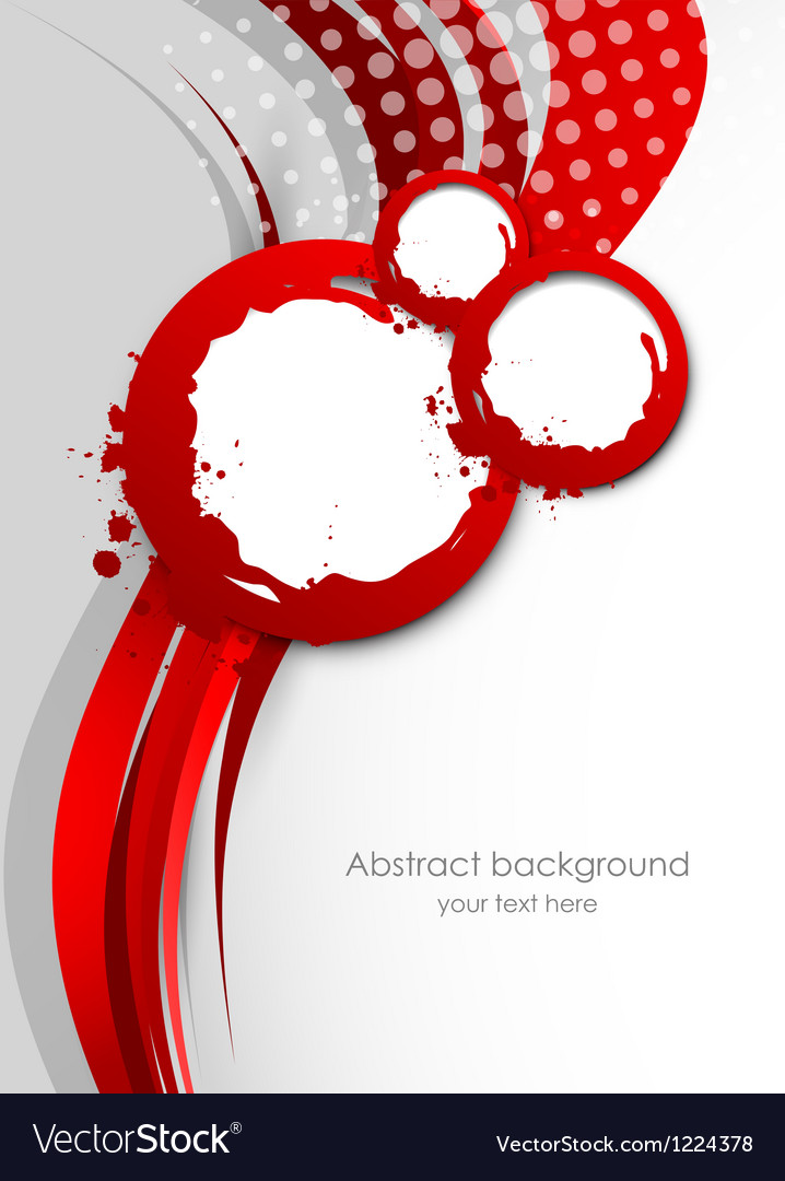 Abstract wavy red background vector | Price: 1 Credit (USD $1)
