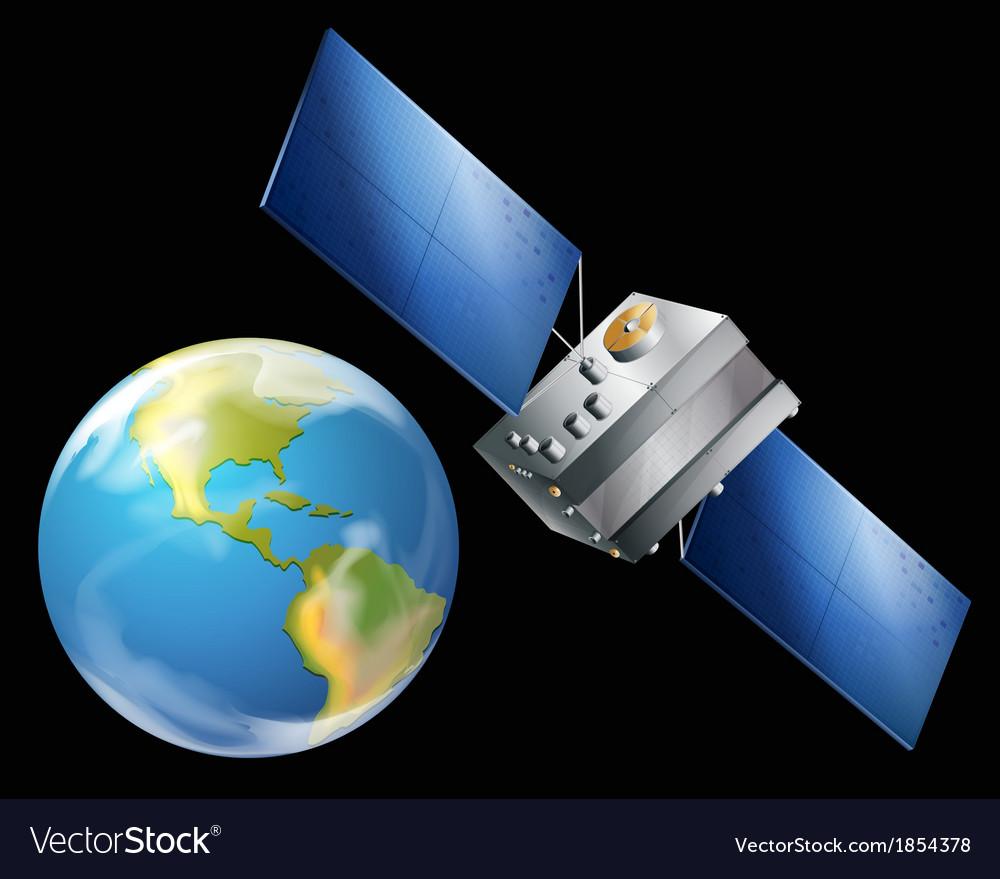 Artificial satellite vector | Price: 1 Credit (USD $1)