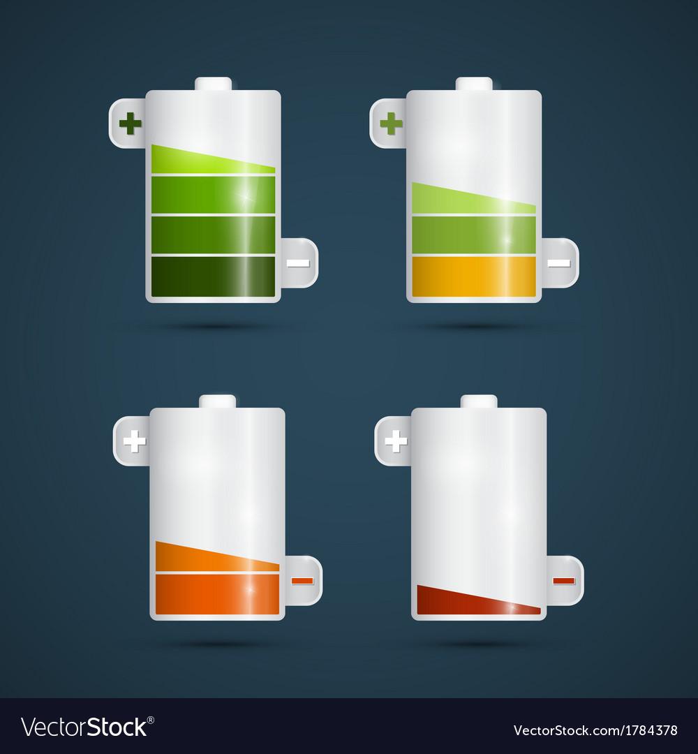 Battery life symbols set vector | Price: 1 Credit (USD $1)