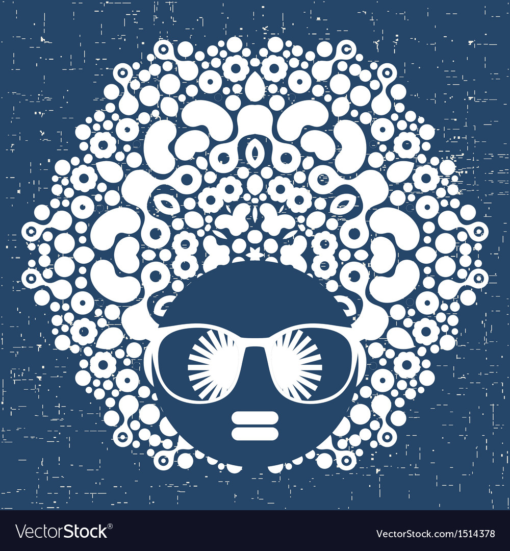 Black head woman with strange pattern hair vector   Price: 1 Credit (USD $1)