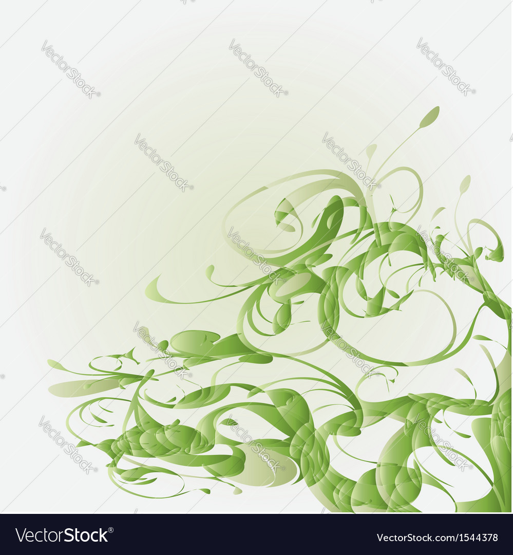Green floral vector | Price: 1 Credit (USD $1)