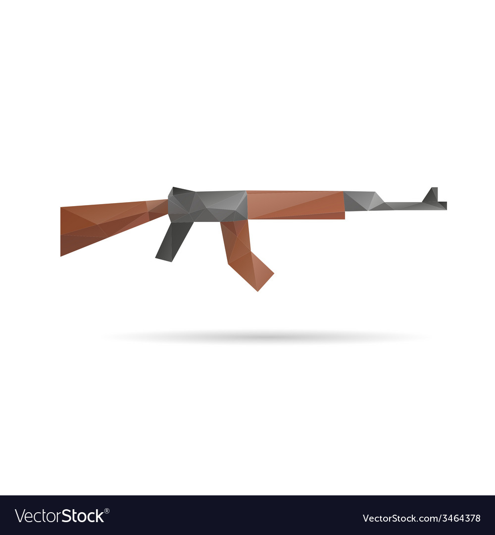 Gun abstract isolated vector | Price: 1 Credit (USD $1)