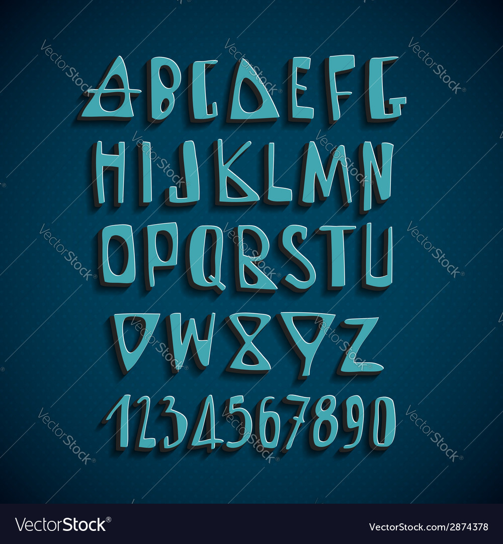 Hand drawn english alphabet letters vector | Price: 1 Credit (USD $1)