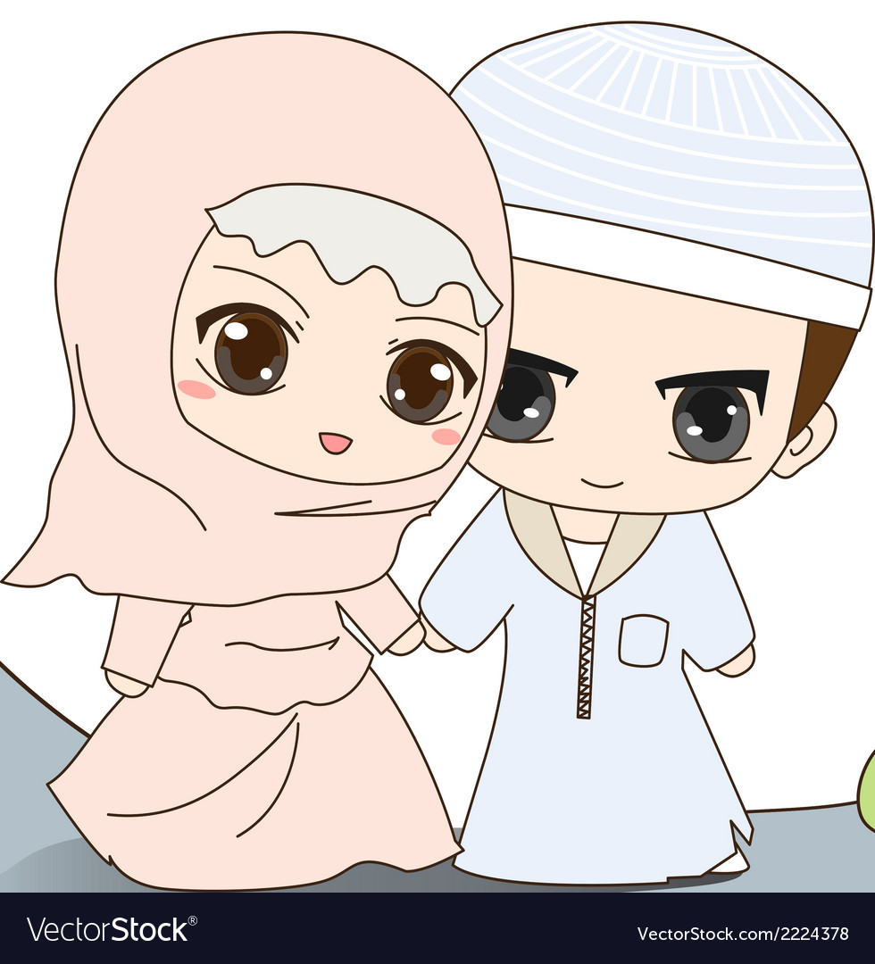 Muslim wedding dress vector | Price: 1 Credit (USD $1)