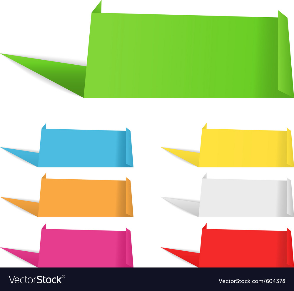 Origami banners vector | Price: 1 Credit (USD $1)