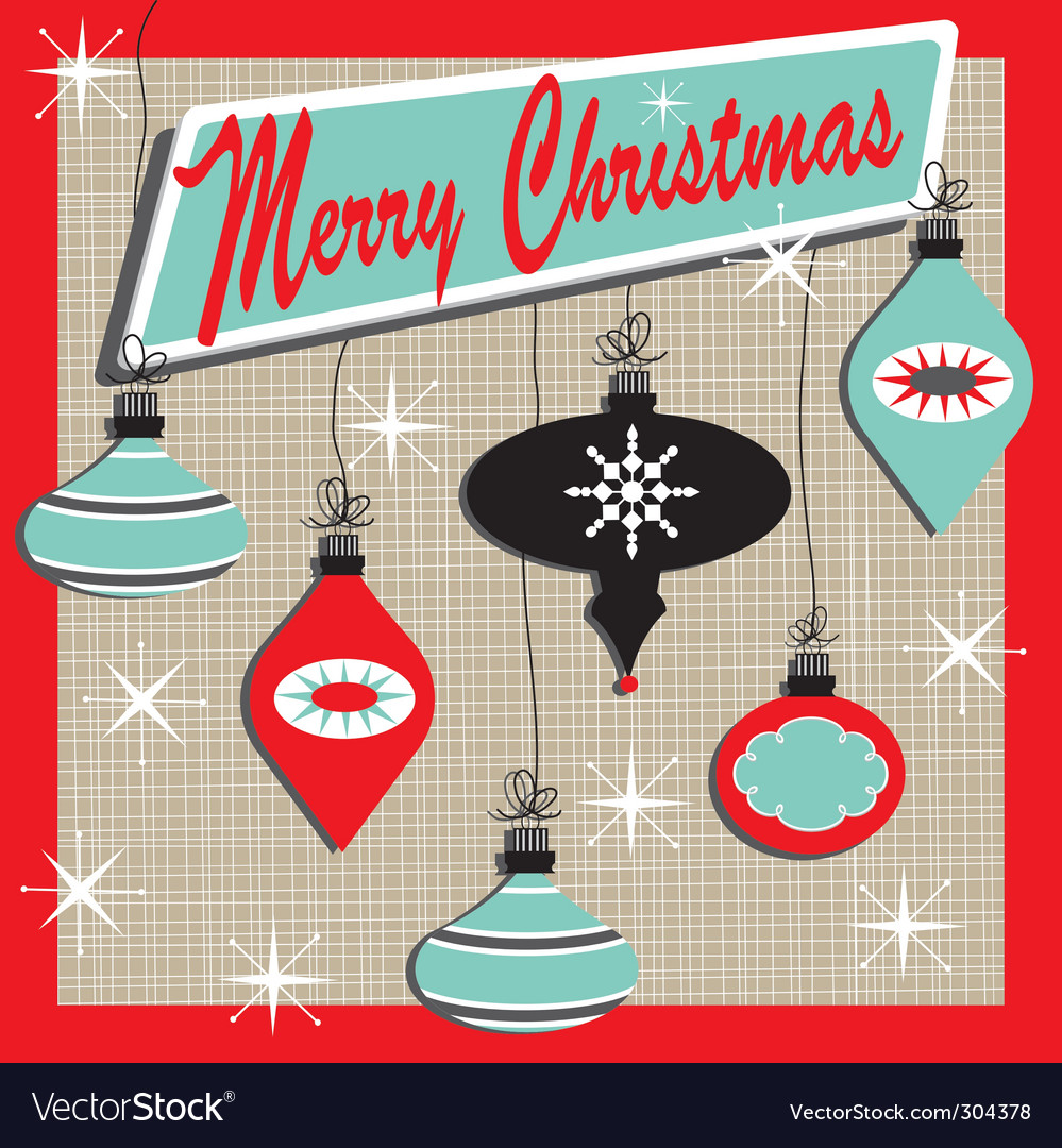 Retro christmas card vector | Price: 1 Credit (USD $1)