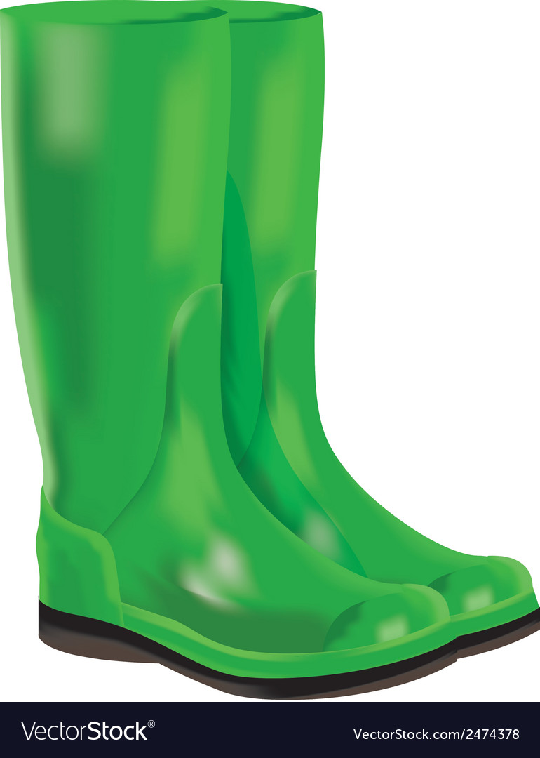 Rubber boots on white background vector | Price: 1 Credit (USD $1)