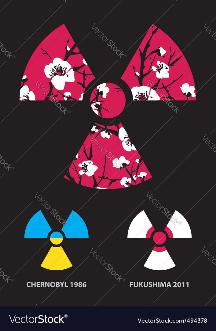 Sakura in the radiation symbol vector   Price: 1 Credit (USD $1)