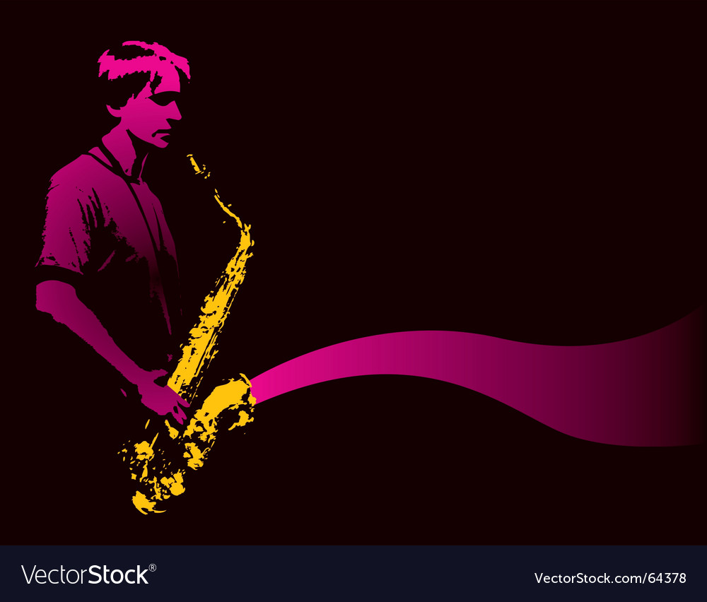 Sax player vector | Price: 1 Credit (USD $1)