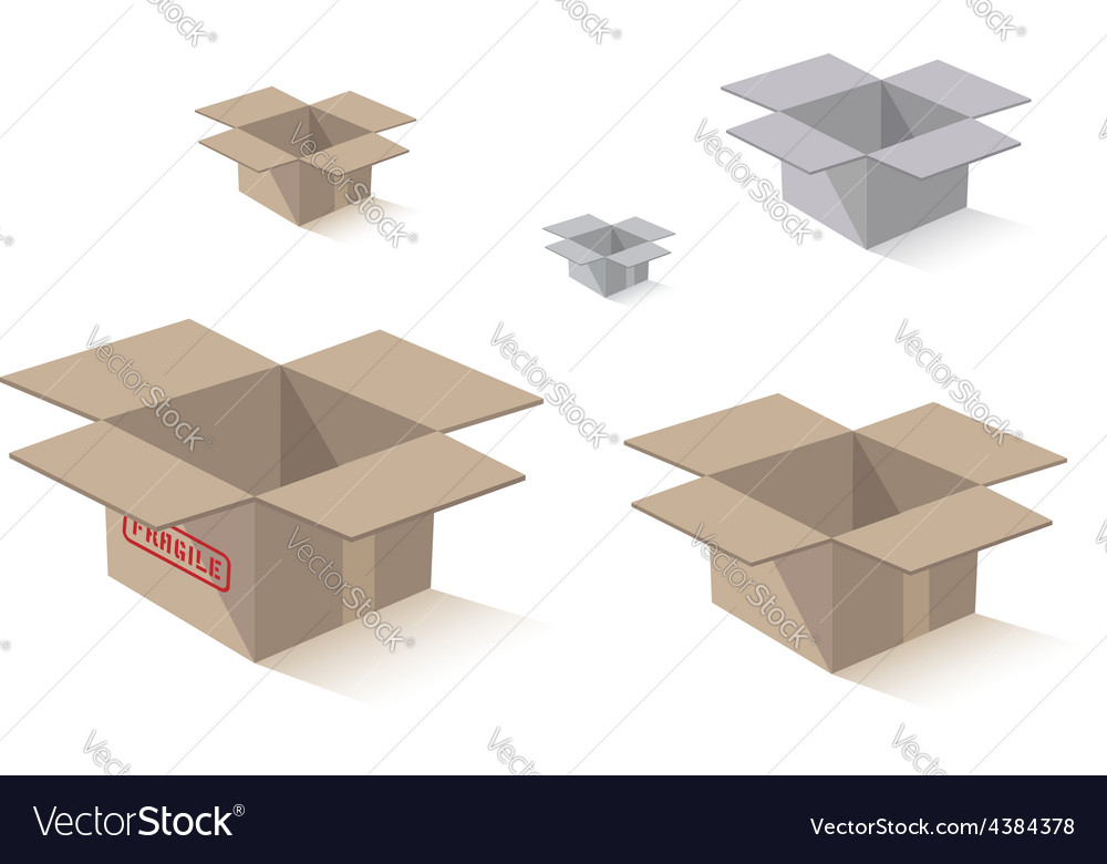 Shipping packing box vector | Price: 1 Credit (USD $1)