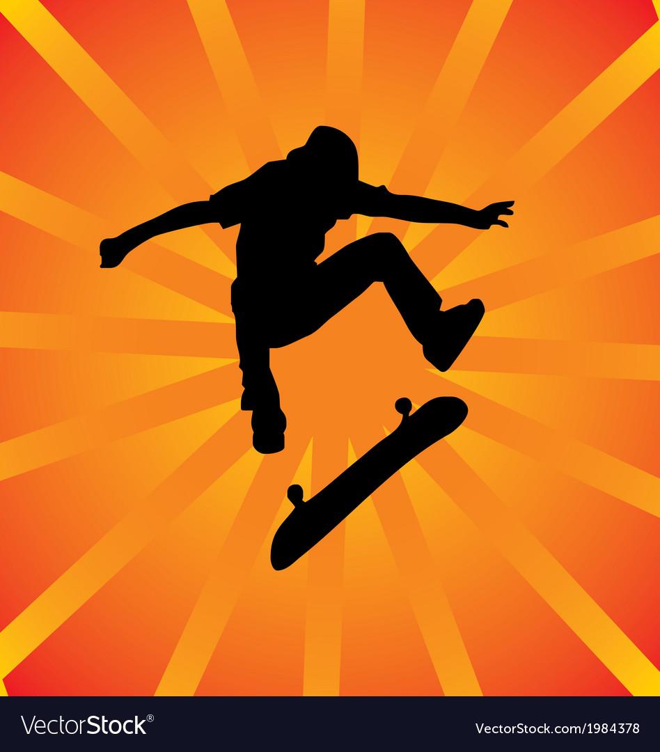 Skater silhouette vector | Price: 1 Credit (USD $1)