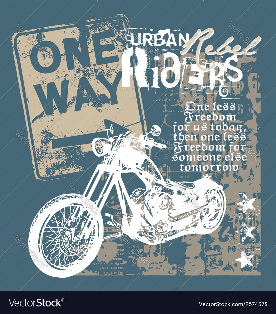 Urban rebel rider vector | Price: 1 Credit (USD $1)