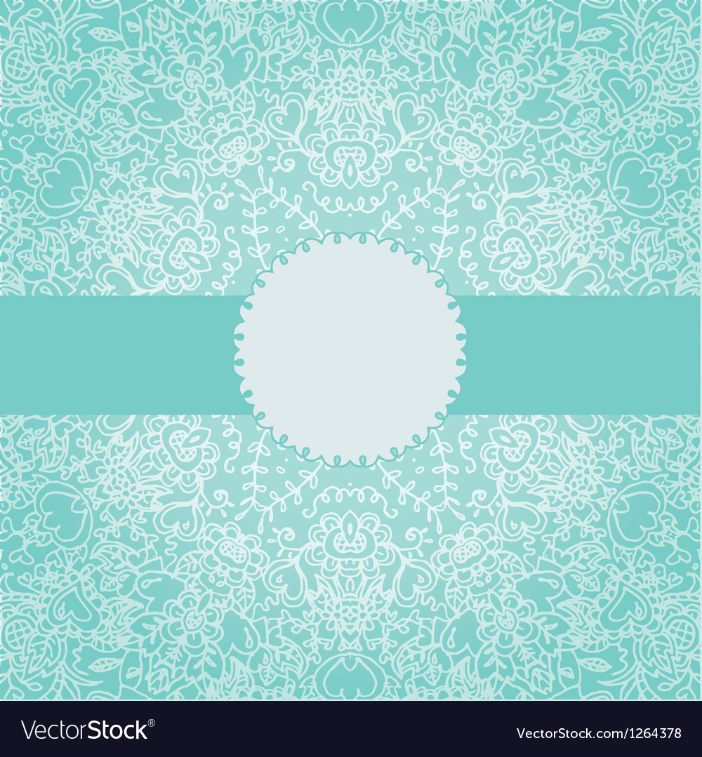 Vintage invitation card with round lace ornament vector | Price: 1 Credit (USD $1)
