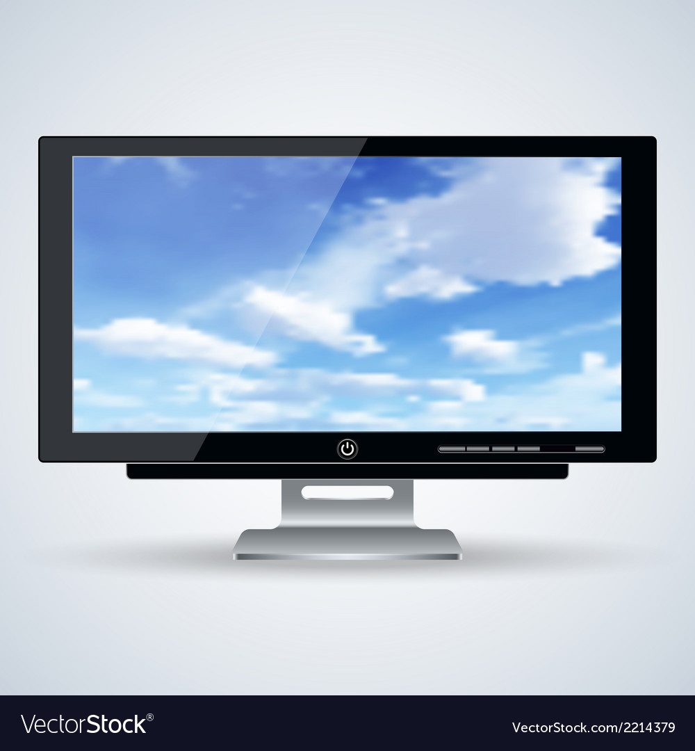 3d computer monitor vector | Price: 1 Credit (USD $1)