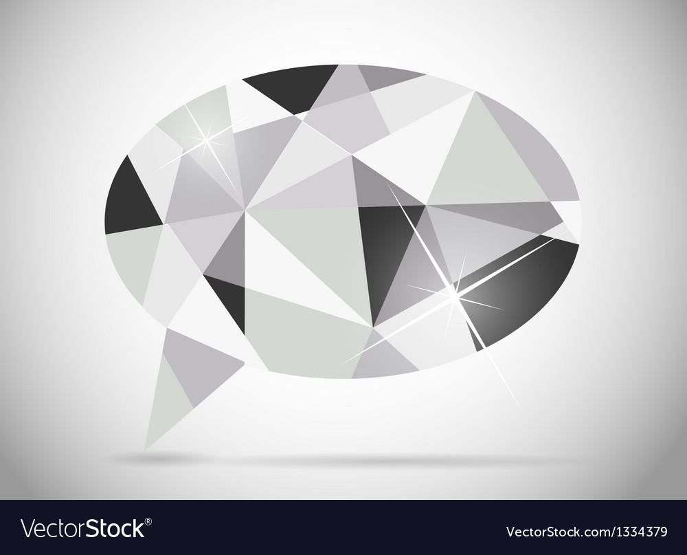 Abstract beautiful diamond speech bubble vector | Price: 1 Credit (USD $1)