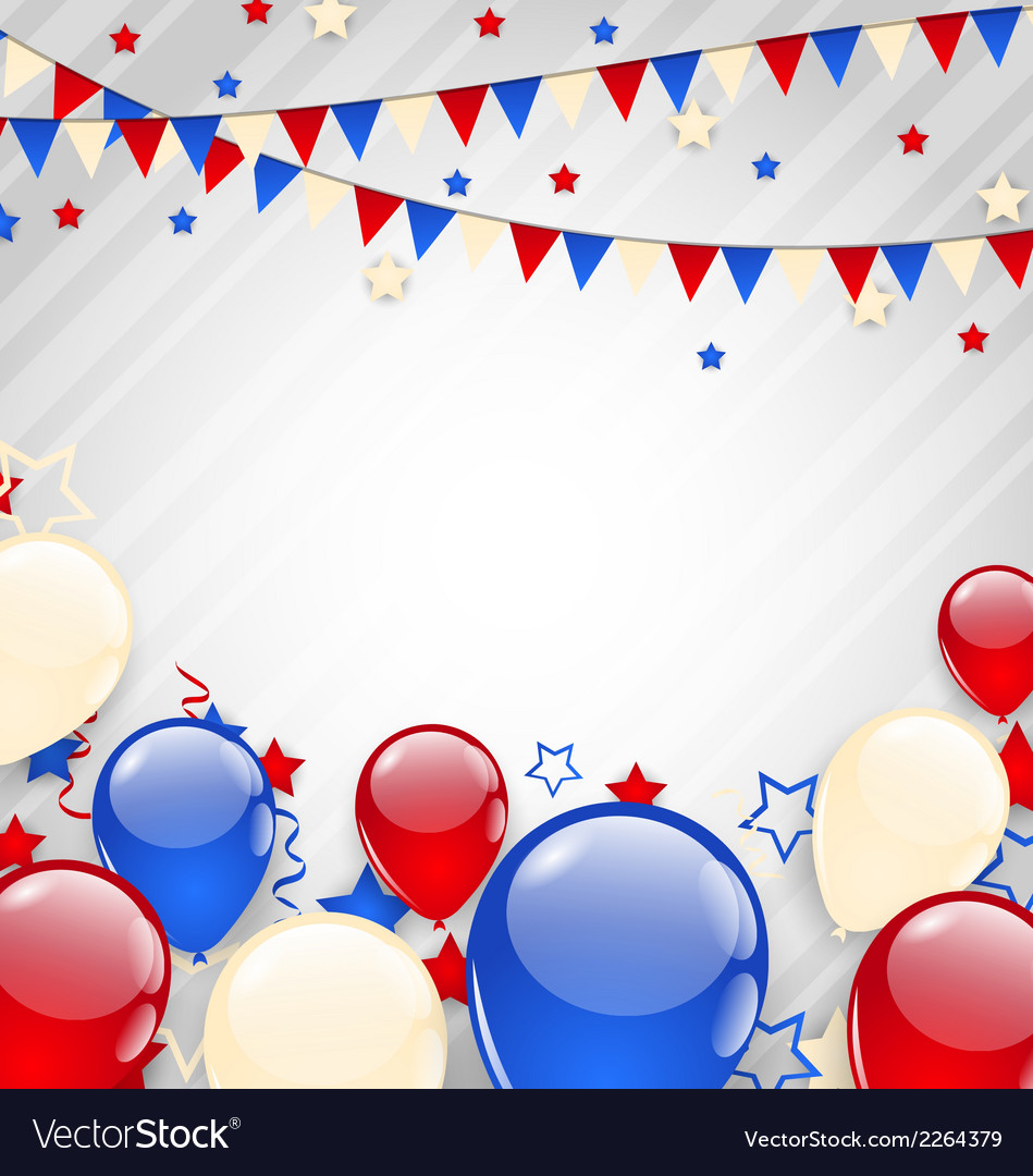 American background for independence day vector | Price: 1 Credit (USD $1)