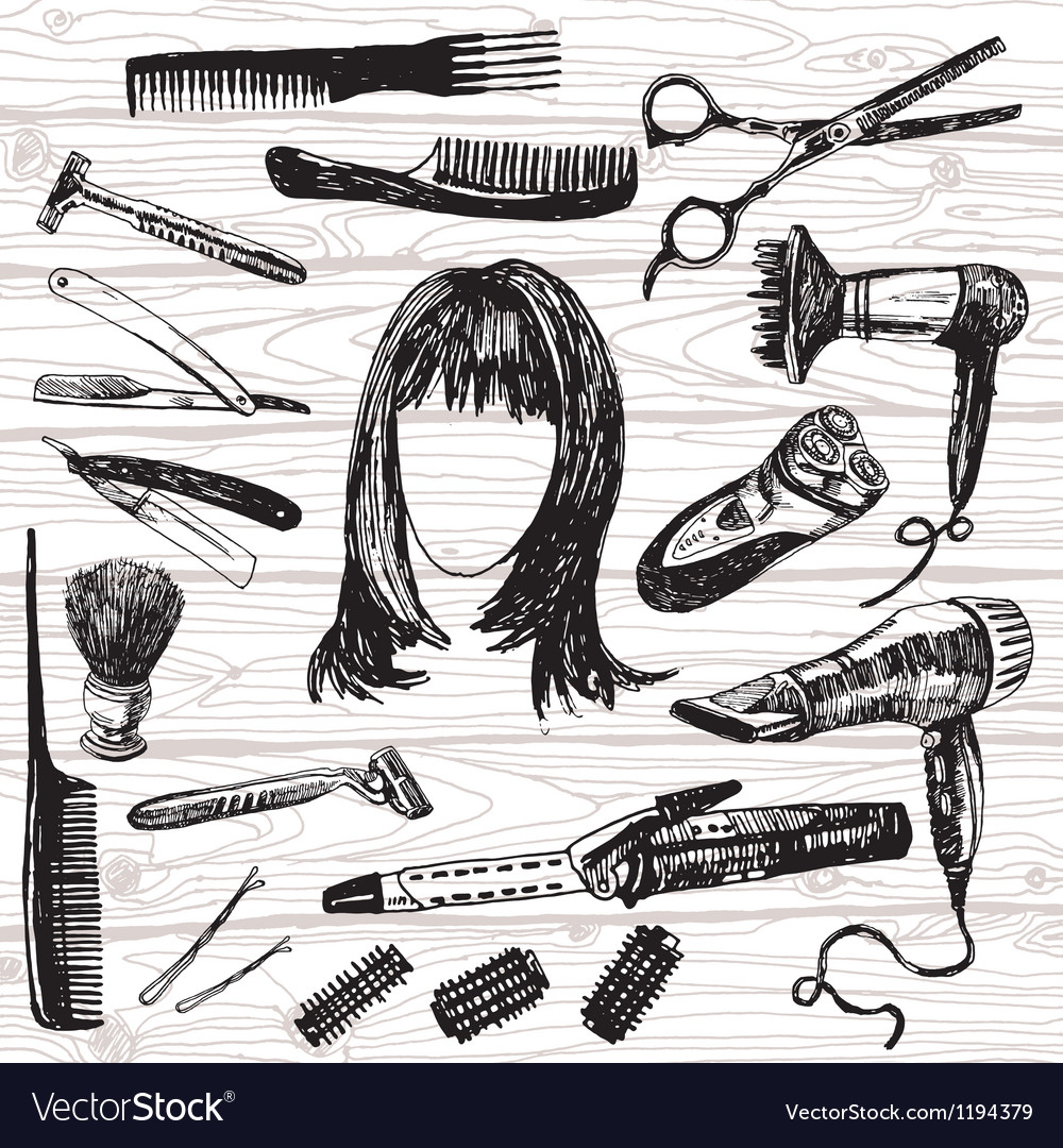 Barbers stuff vector | Price: 3 Credit (USD $3)