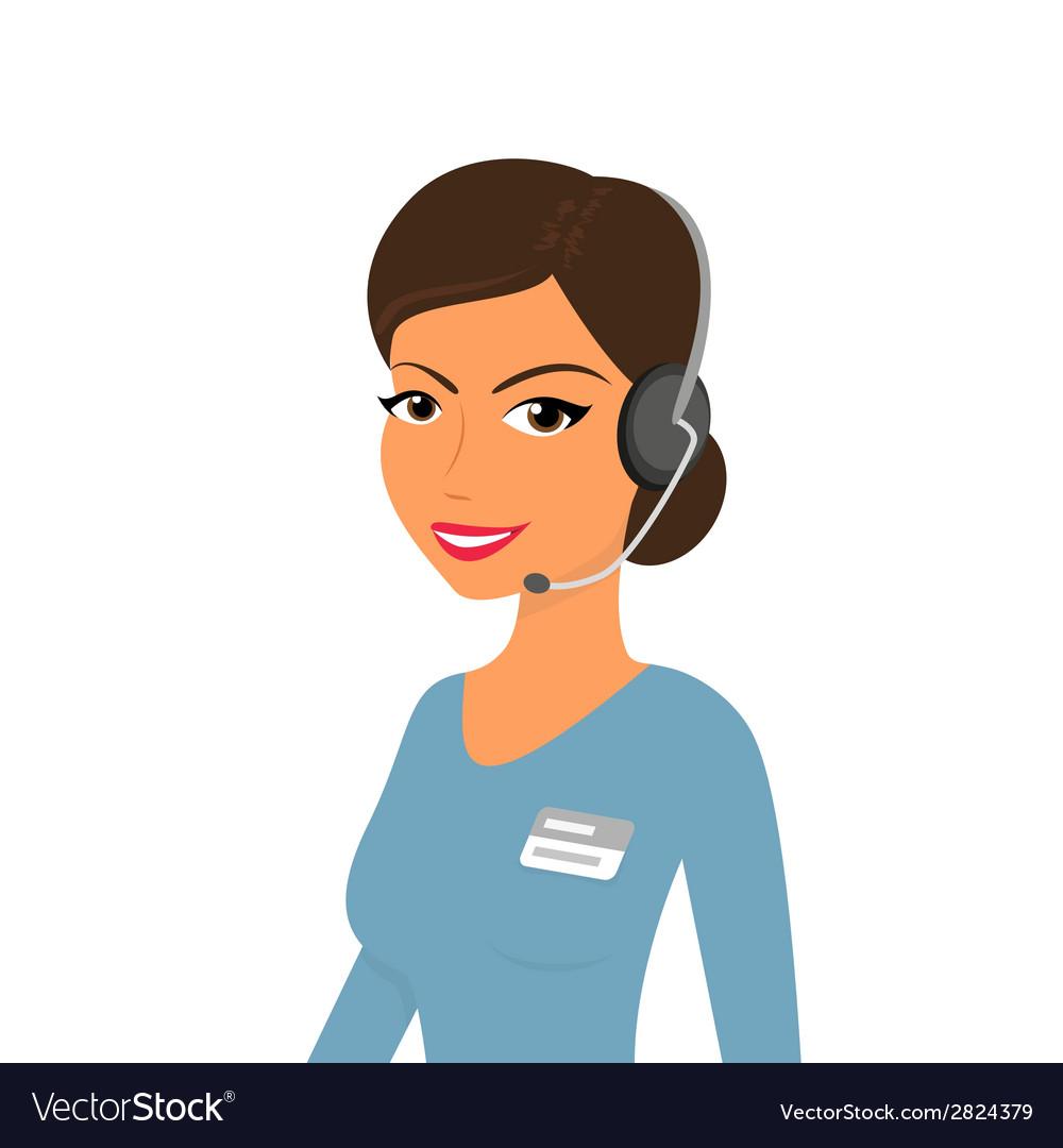 Female call centre operator vector   Price: 1 Credit (USD $1)