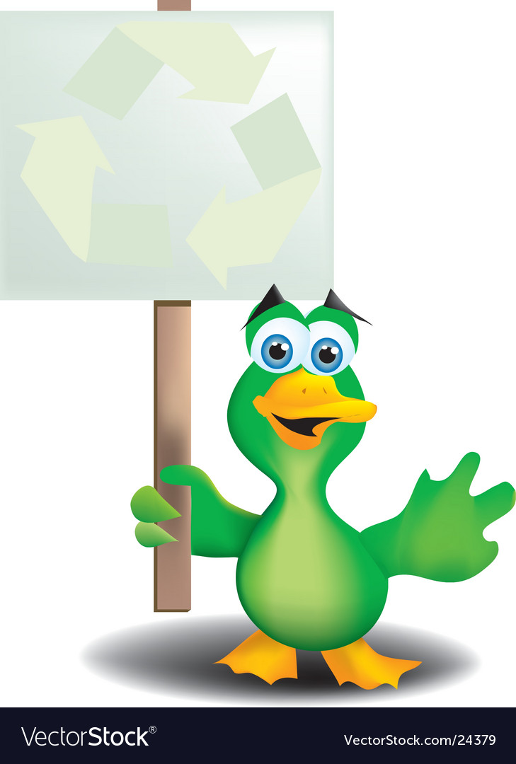 Green duck vector | Price:  Credit (USD $)