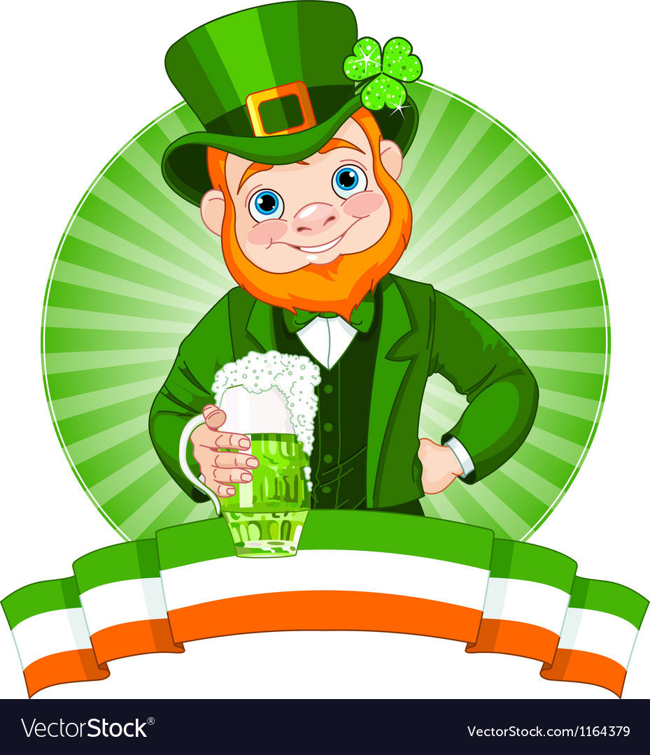 Leprechaun toast vector | Price: 3 Credit (USD $3)