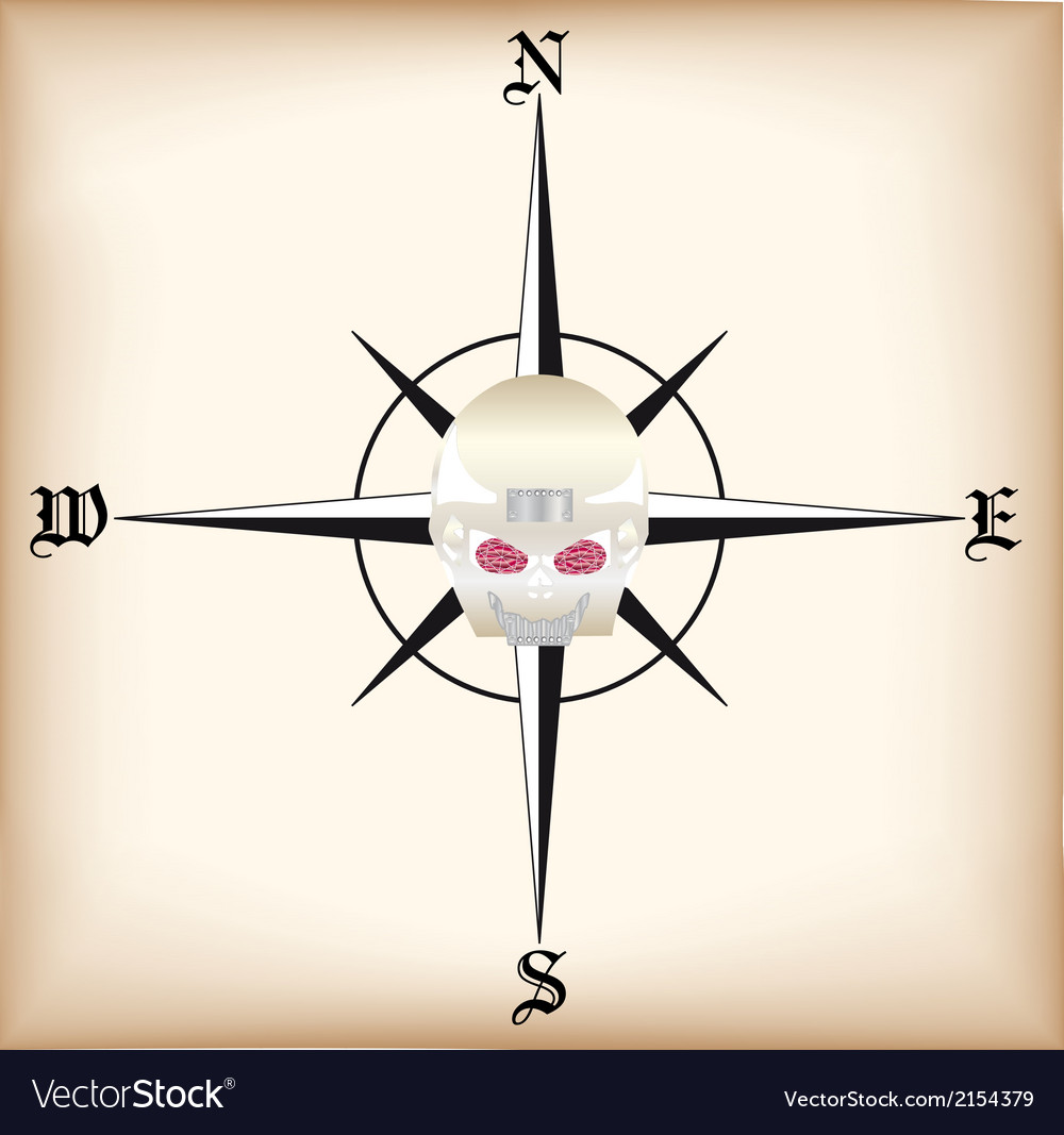Pirate compass vector | Price: 1 Credit (USD $1)