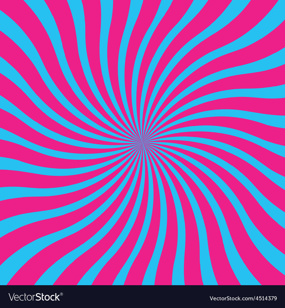 Popular blue and pink twist rotate ray background vector | Price: 1 Credit (USD $1)