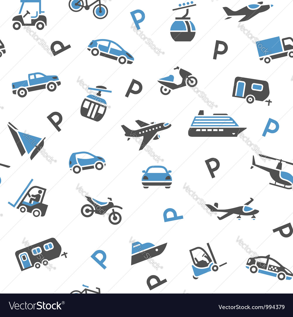 Seamless backdrop transport icons vector | Price: 1 Credit (USD $1)