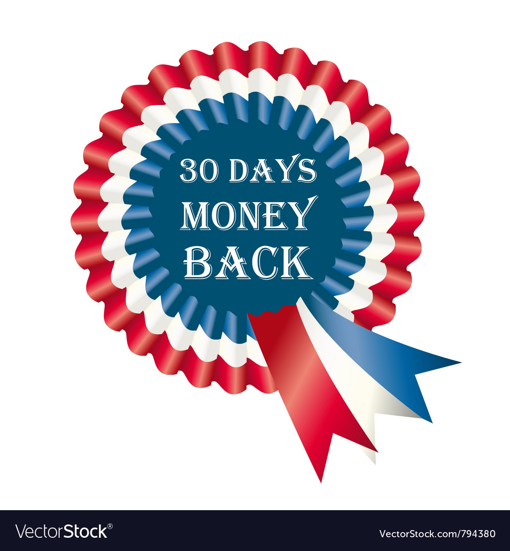 30 days money back guarantee label vector | Price: 1 Credit (USD $1)