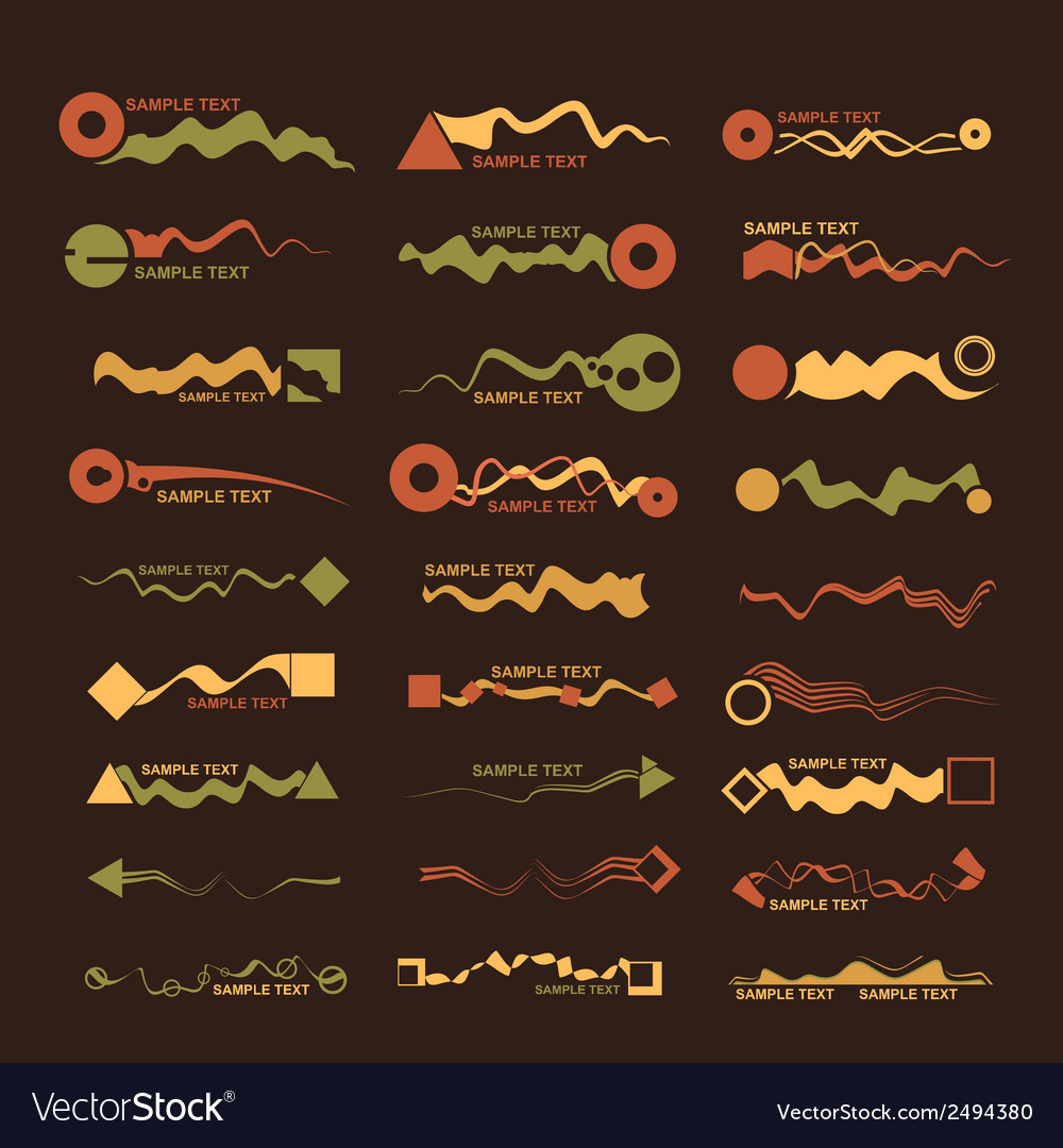 Abstract design elements vector | Price: 1 Credit (USD $1)