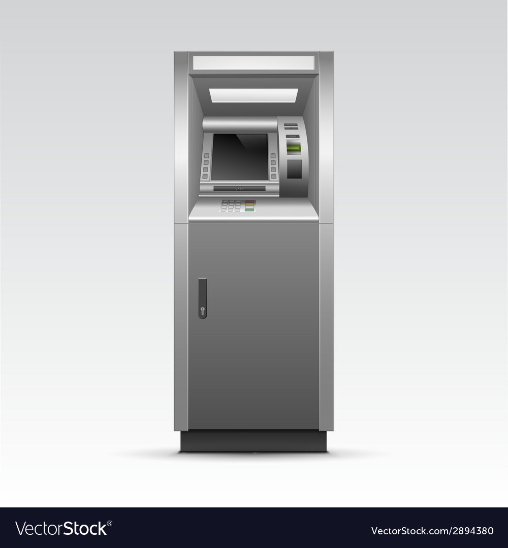 Atm bank cash machine isolated vector | Price: 1 Credit (USD $1)