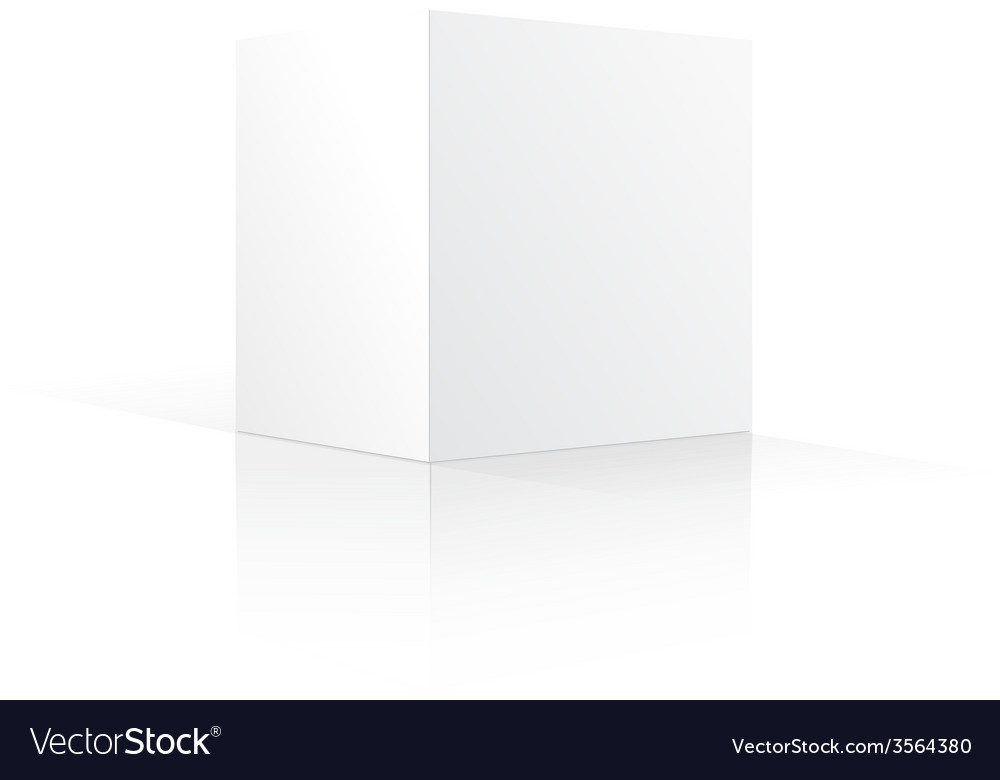 Blank box isolated on white background vector | Price: 1 Credit (USD $1)