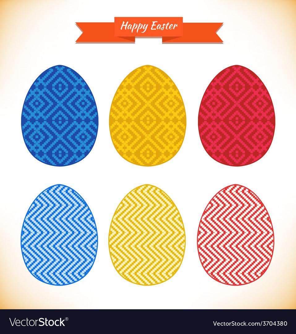 Easter egg designs vector | Price: 1 Credit (USD $1)