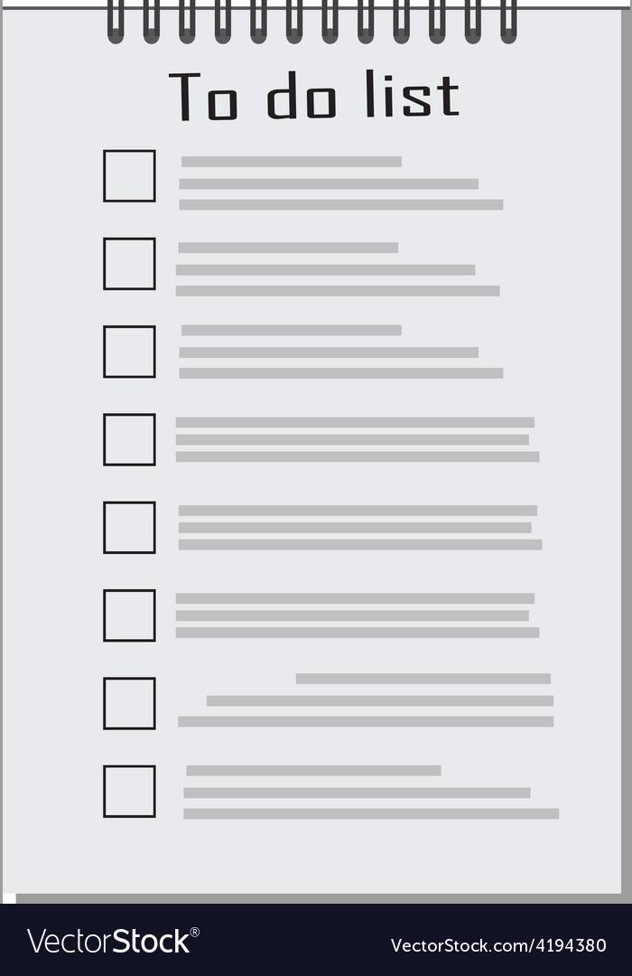 Empty to do list vector | Price: 3 Credit (USD $3)
