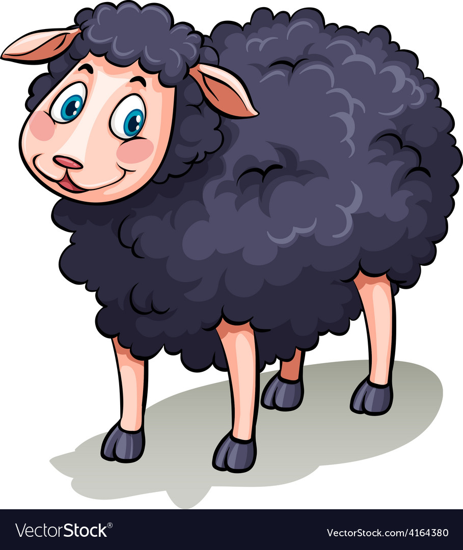 One black sheep vector | Price: 1 Credit (USD $1)