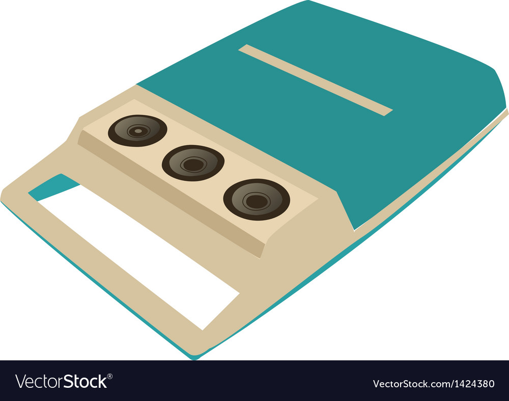 Portable record player vector | Price: 1 Credit (USD $1)