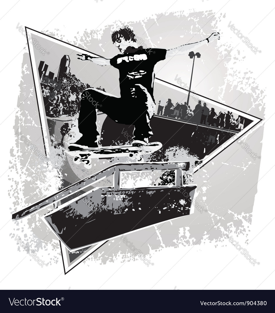 Slide skater vector | Price: 1 Credit (USD $1)