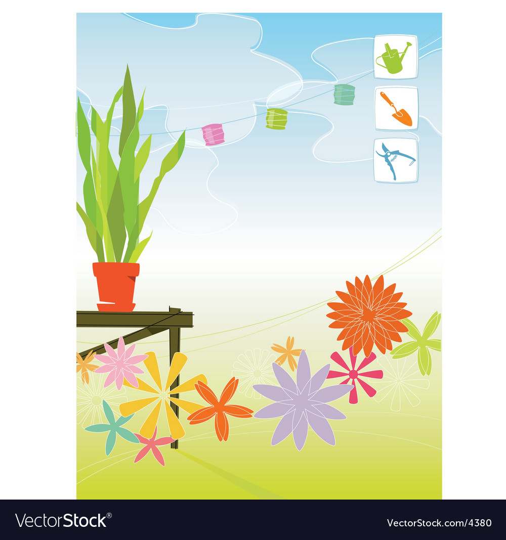 Spring garden vector | Price: 3 Credit (USD $3)